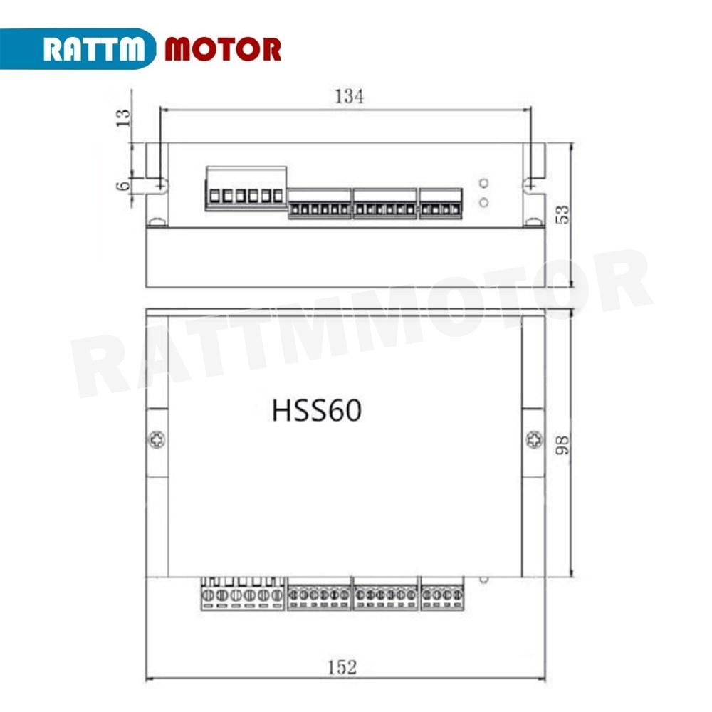 Ltd Nema24 3N.m Closed Loop Stepper Servo Motor 88mm 5A+HSS60 Hybrid Driver CNC Kit for CNC Router Engrvaving Milling Machine Changzhou Rattm Motor Co