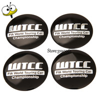 Car Styling Wheel Center Hub Caps Wheel Sticker Emblem For WTCC Logo For BMW M3 M5