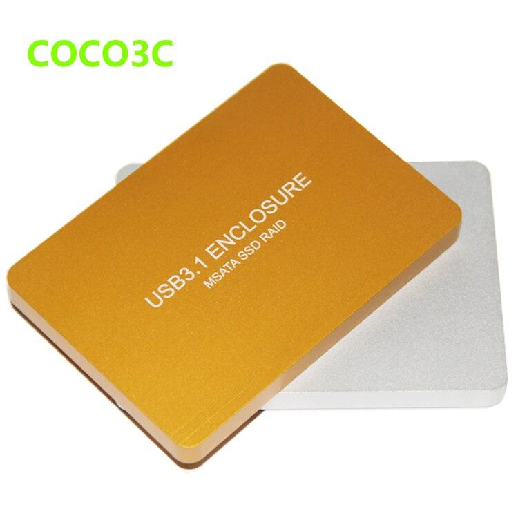 Livraison Gratuite Boîtier SSD mSATA USB-C vers Adaptateur double - Stockage externe - Photo 2