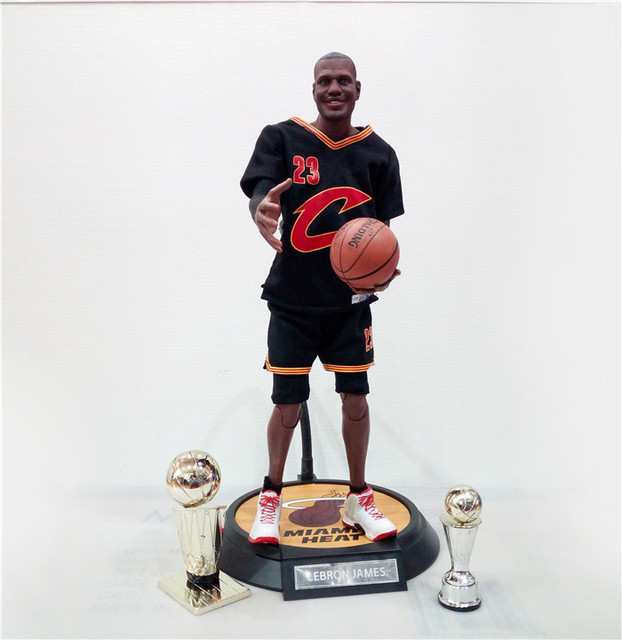 97fc8c97fcef XINDUPLAN LeBron James Cleveland Cavaliers 23 NBA MVP Action Figure Toys 1 6  34cm Large PVC Gift Collect Model 1055