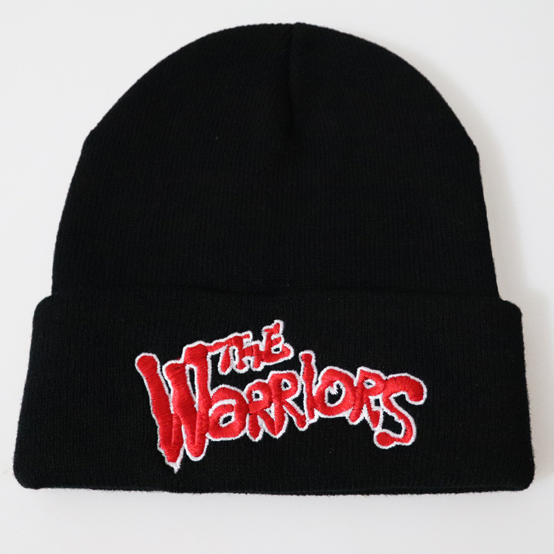 Movie The Warriors Embroidery Beanies Cap Women Men Letters Casual Knitted Hat For Skiing