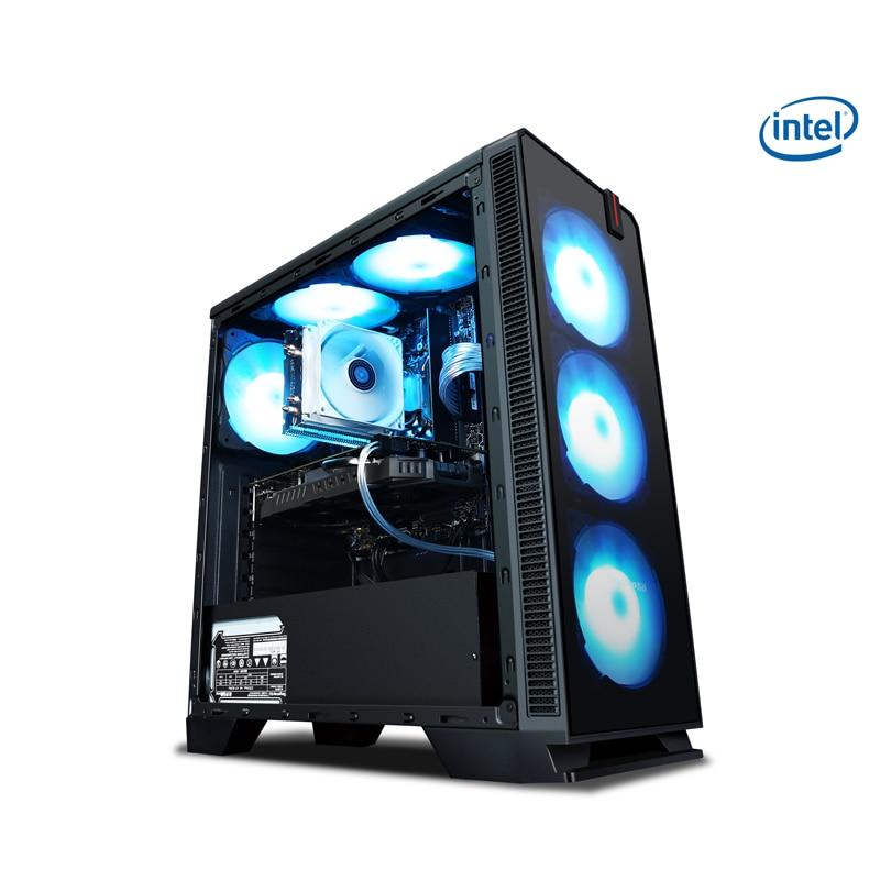 KOTIN R9 Intel Core i5 9600K Hexa Core 3.7GHz Gaming Desktop PC DIY Computer 120GB/240GB SSD 8G/16GB RAM Air Cooler 400W PSU pochette étanche pour téléphone
