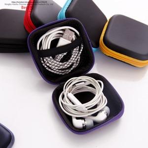 Image 2 - شحن مجاني شاحن خط بيانات الهاتف المحمول ، طرف الإصبع صندوق تعبئة جيروسكوبي ، حقيبة تخزين سماعة الأذن ، حقيبة سماعات EVA