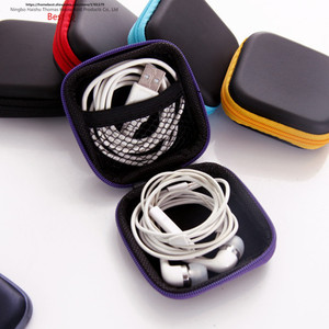 Image 2 - Free shipping mobile phone data line charger, finger tip gyro packing box, earphone storage bag, EVA earphone bag