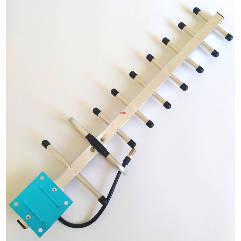 Unidade 9 13dbi 806-960 Mhz Exterior Yagi Antena Externa Com Conector F Para sinal de Telefone Celular GSM CDMA impulsionador da antena
