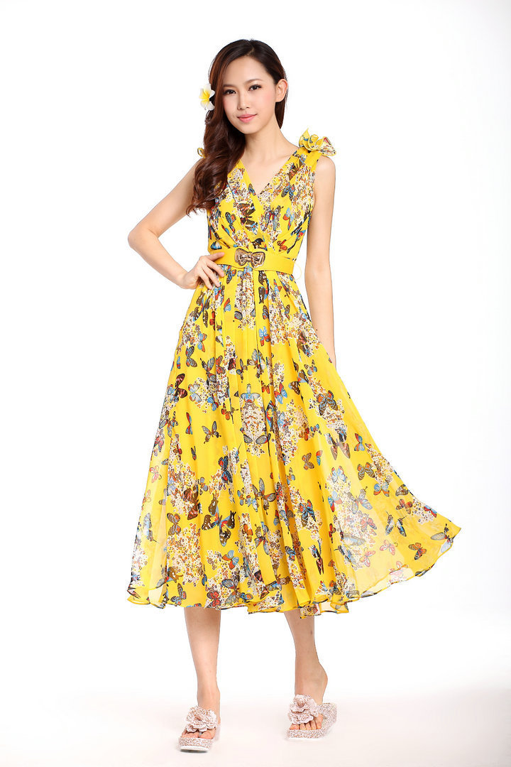 2013 New Fashion Women 100%Silk Casual Brand Long Dress ...