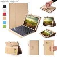 For Lenovo Miix 310 Tablet Case Flip Leather Cover For Lenovo Miix310 10.1 inch Slim Stand Cases Capa Funda+Stylus