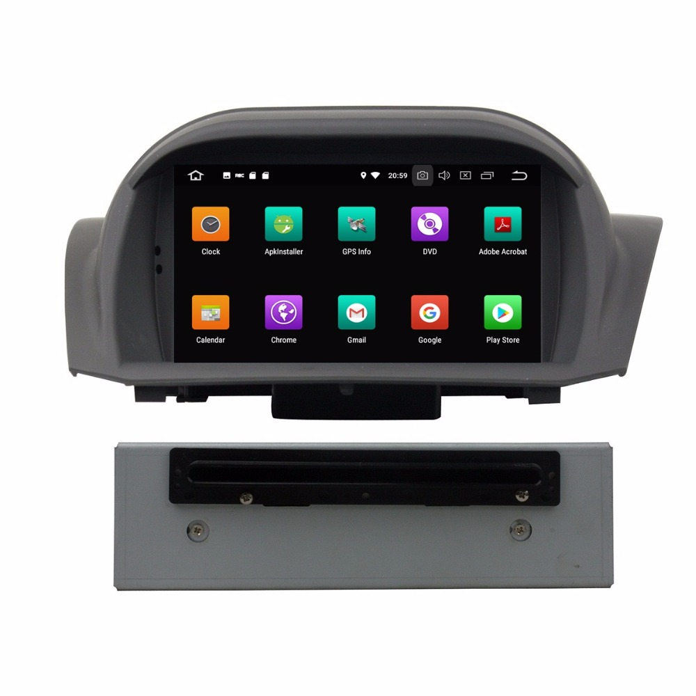 4GB RAM Octa Core 1 din 7 Android 8 0 Car DVD Player for Ford Fiesta  2011-2016 With Radio GPS 4G WIFI Bluetooth USB Mirror-link