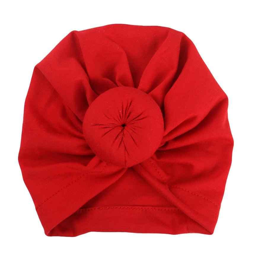 a5fe591d1197f Arab Muslim Simpul Sorban Topi Bayi Gadis Topi Kapas Anak-anak Beanie Solid  Simpul Ember