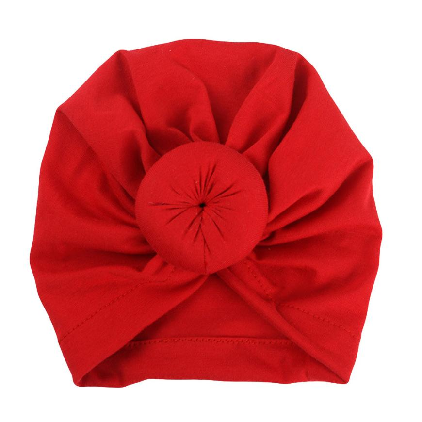 Arab Muslim Knot Turban Cap Baby Girl Caps Cotton Kids Beanie Solid Knot Bucket India Hat Boys Hats Scarf Traditional scarf 6.19 solid knot hem tee