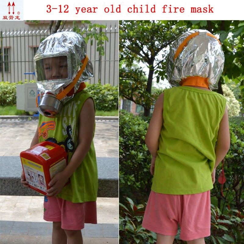 30 minutes children fire escape respirator mask 3-12 annum children apply fire control protect mask children special face shield