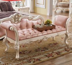 Francuski łóżko sypialniane stołek końcowy