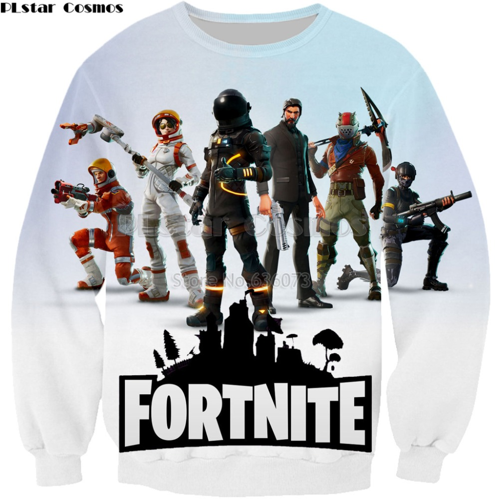 PLstar Cosmos Fashion Men/Women Sweatshirts 2018 new design Hoodies Top games Fortnite 3d Print Casual Long-sleeved jacket