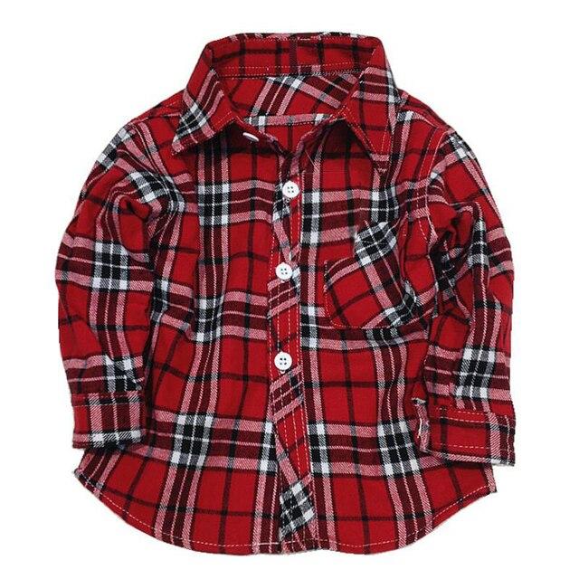49d2bb86 1 2 3 4 5 years long sleeve boys dress shirts children's plaid checkered  shirts toddler boy girl Clothing checked shirt flannel
