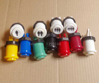 50 pcs Neo geo HAPP style Arcade Push Button American start button Durable Multicade MAME Jamma Game Long Switch Mult-color