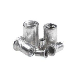 Image 5 - 190Pcs/lot Aluminum Alloy Rivnut Flat Head Threaded Insert Cap M3 M4 M5 M6 M8 M10 Rivet Nut Set With Box
