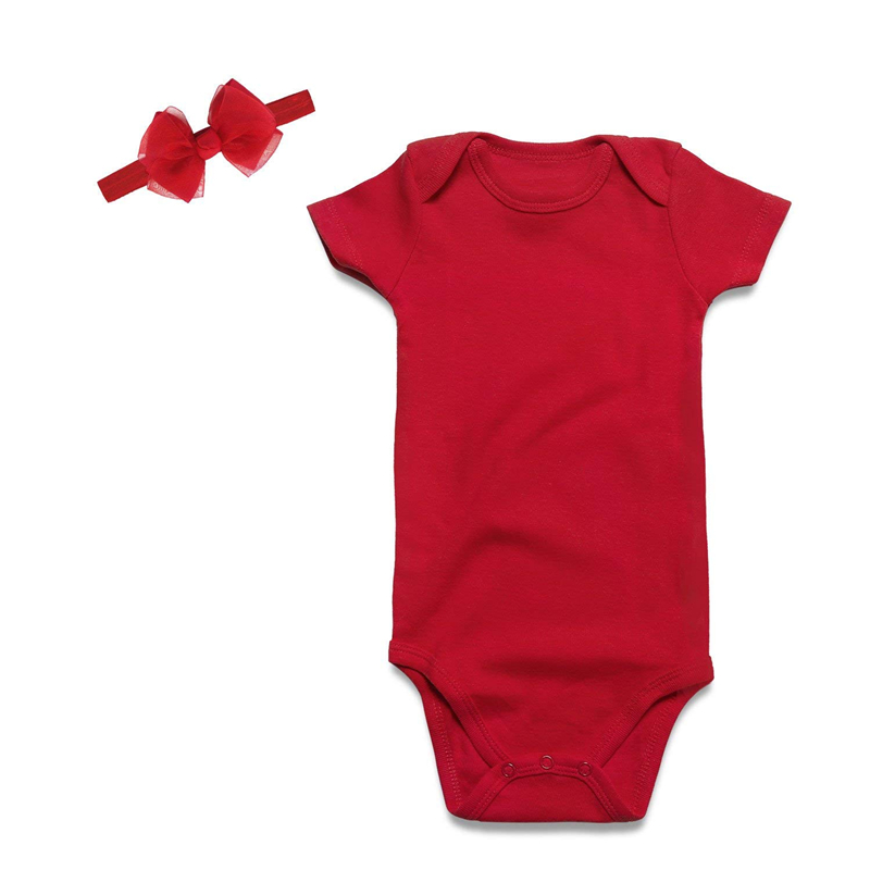 2pcs Christmas Newborn Bodysuit Lace Baby Girl Clothing Baby Bodysuit Cotton Jumpsuit Red Toddler Girl Clothing Infant Jumpsuit Girls' Baby Clothing
