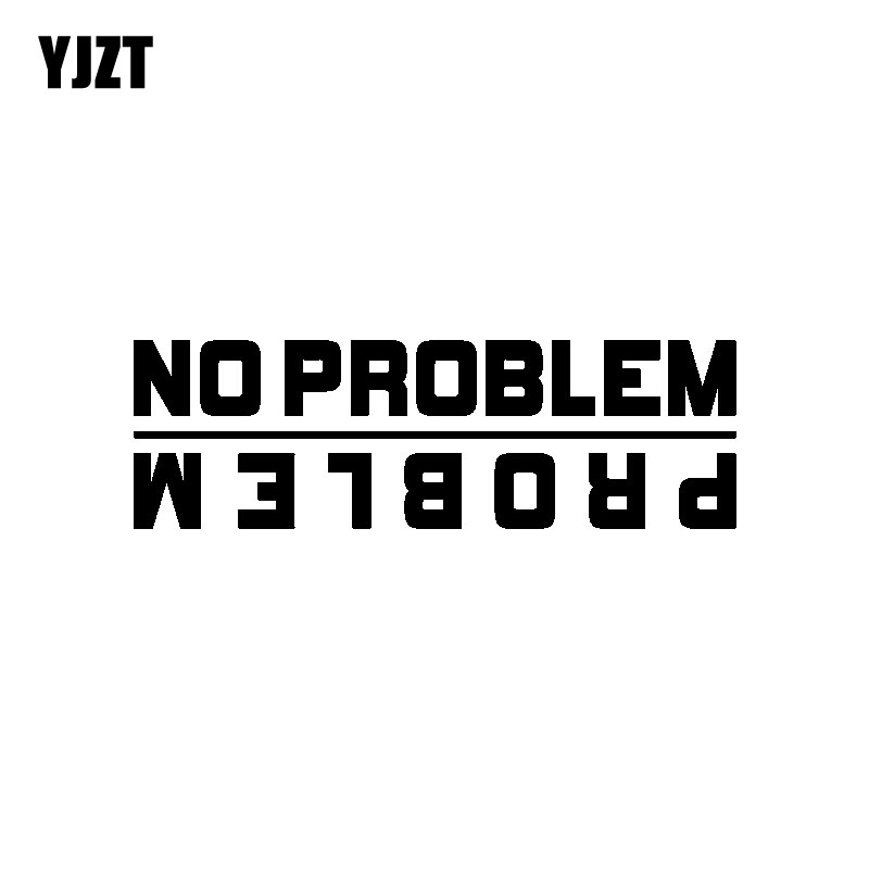 YJZT 14.2CM*4.5CM NO PROBLEM Funny Vinyl Car-styling Car Sticker Decal Black Silver Graphical C11-0686