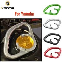 ZSDTRP YZF R1 R6 FZ MT 09 Accessories CNC Passenger Handgrips Hand Grip Tank Grab Bar