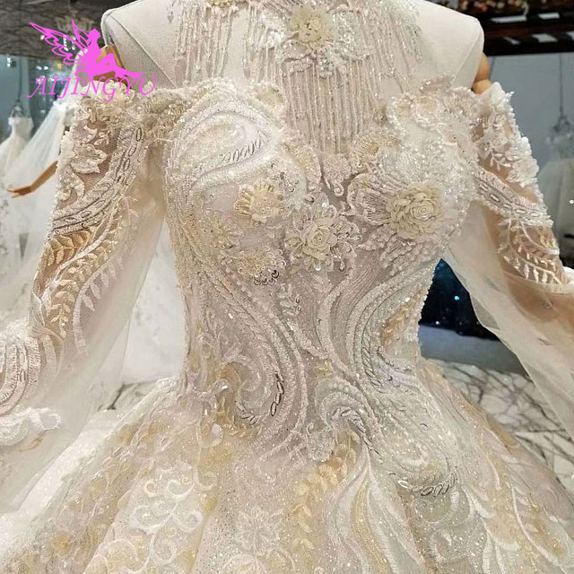 AIJINGYU This SeasonS Wedding Dresses Luxury Dubai Dress Hand Embroidery Designs Gowns Gown Bridal
