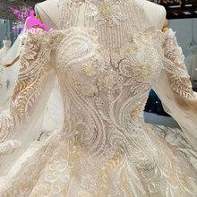 AIJINGYU bu SeasonS gelinlik lüks Dubai elbise el nakışı tasarımları önlük gelinlik