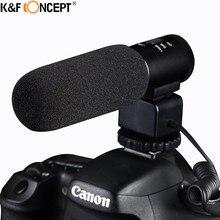 К & F КОНЦЕПЦИЯ DSLR Камеры Микрофон Профессиональный Интервью Ручной Проводной Микрофон Для Nikon Canon Запись Видео Студия Видеокамеры