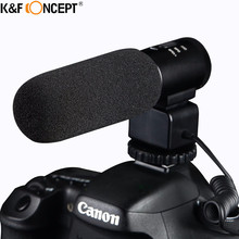 K&F CONCEPT DSLR Camera Microphone Professional Interviewing Handheld Wired Mic For Nikon Canon Record Video Studio Camcorder