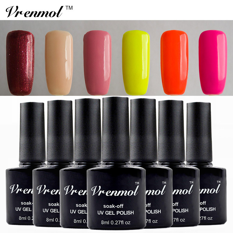 vrenmol vernis semi permanent uv nail gel polish long lasting led nail art lacquer soak off gel. Black Bedroom Furniture Sets. Home Design Ideas