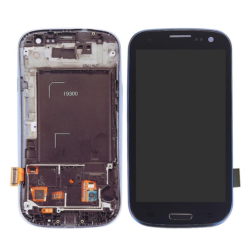 Para Samsung Galaxy S3 i9300 i535 i747 L710 T999 i9305 i9300i i9301 i9301i i9308i Display LCD de Toque Substituição Digitador Da Tela