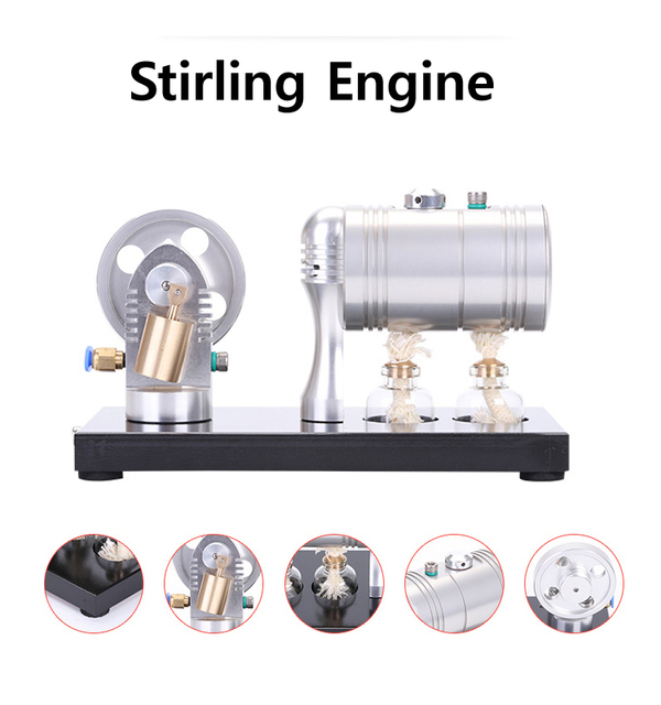 K 005 Stirling Steam Engine Model with 116ml Heating Boiler and ...
