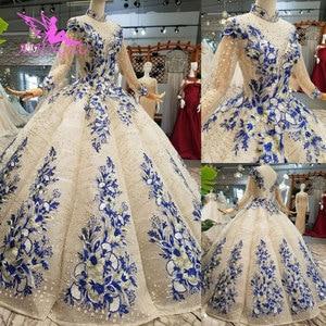 Image 2 - AIJINGYU Gorgeous Wedding Dresses Plus Size Gowns Newest Ball 2021 2020 Elegant Buy Bridal Dress Wedding Gown Material