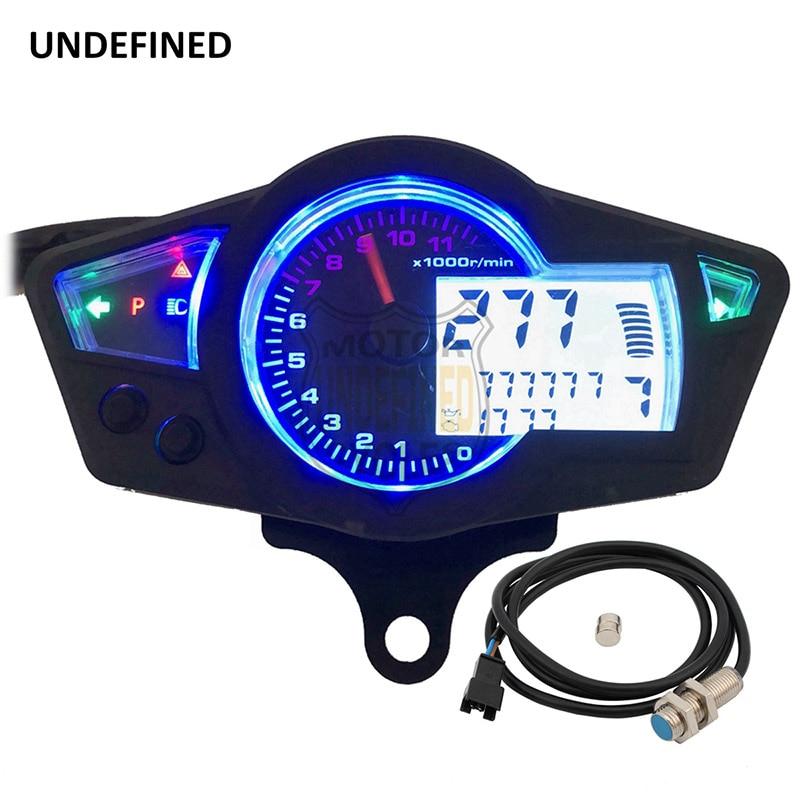 UNDEFINED Universal Digital Motorcycle Speedometer Odometer Backlight Speed Meter With LED Indicator DC 12V Instrument DDD50 lvsun universal dc