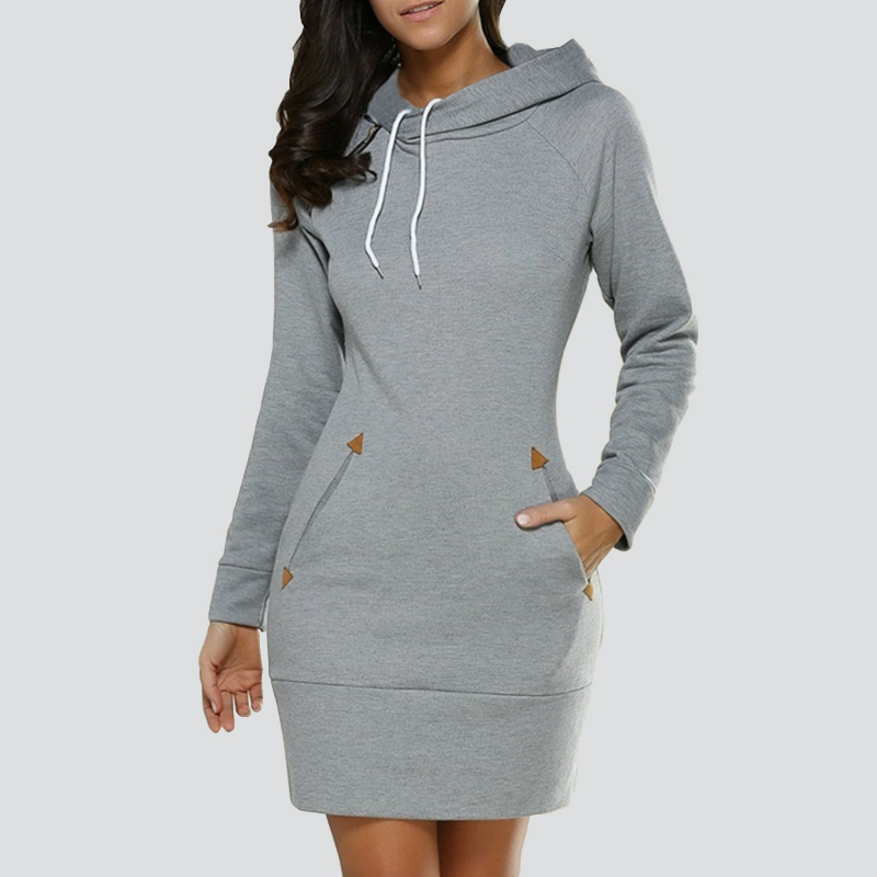 Women Hoodie Dress Winter Spring Women's Pullover Fashion Ladies Sweatshirts Female Long Hoodies Plus Size Women Pull Hoody
