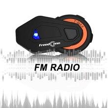 Мягкие гарнитуры + freedconn 2 шт. T-MAX мотоциклетный шлем bluetooth Интерком 8 райдеров группового intercomunicador BT 4,1 переговорные FM