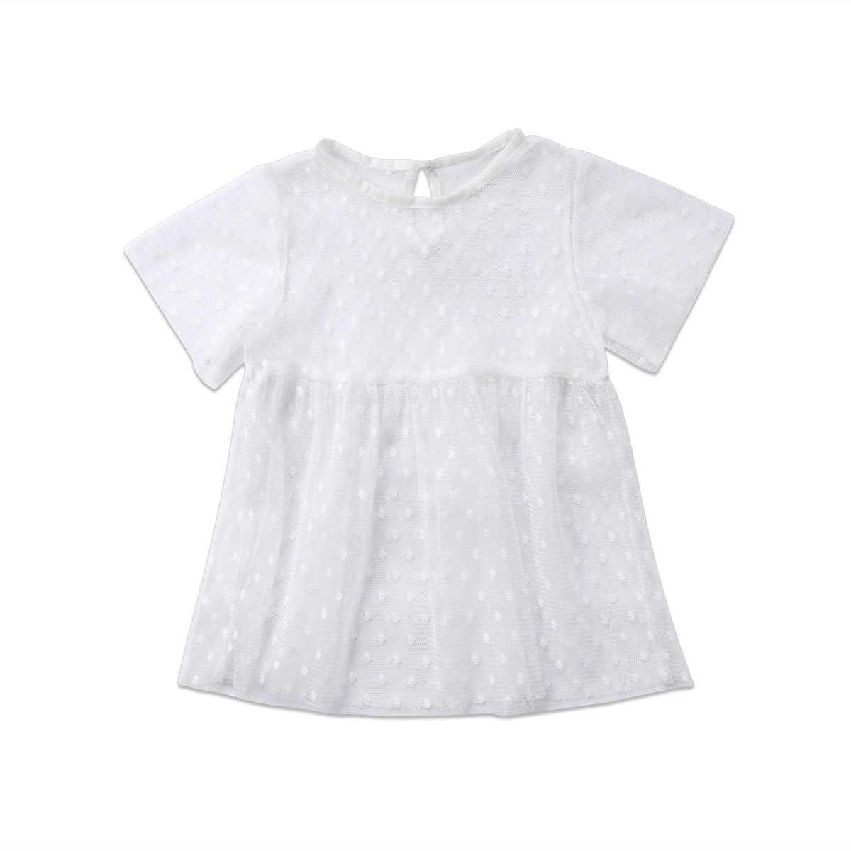 לפעוטות קיד שמלות בגדי תינוקות בנות חולצות שרוול טול טוטו תינוקת בגדי תלבושות שמלת מיני