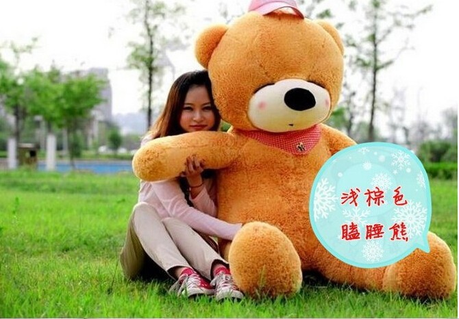 200CM/2M/78inch huge giant stuffed teddy bear animals baby plush toys dolls life size teddy bear girls gifts 2018 New arrival new violence bear momo bearbrick gloomy bear popobe spiderman vinyl toys 10 inch 25cm