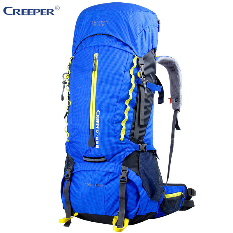 Creeper Outdoor Sport Bag Camping Hiking Waterproof Backpack Daypacks Mountaineering Bag 60L Trekking Rucksack with Rain Cover creeper camping hiking backpacks outdoor molle waterproof travel sport bag daypack trekking rucksack with rain cover sporttas