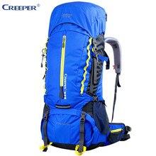 Creeper Outdoor Sport Bag Camping Hiking Waterproof Backpack Daypacks Mountaineering Bag 60L Trekking Rucksack with Rain
