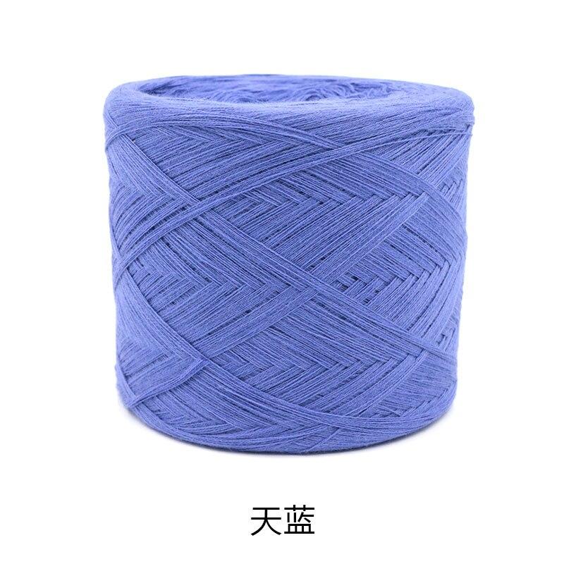250 г/шт., белая, небеленая, оригинальная, Экологичная, здоровая, хлопковая, вязаная пряжа, детская, натуральная, мягкая, пряжа для вязания крючком - Цвет: sky blue