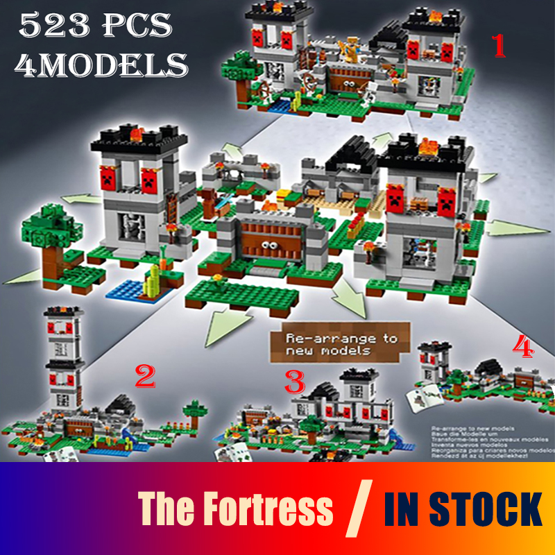 Model building toys hobbies my worlds The Fortress 18005 Compatible With lego Blocks minecraft 21127 Educational DIY Bricks 18003 model building kits compatible my worlds minecraft the jungle 116 tree house model building toys hobbies for children