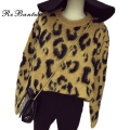 Rebantwa Autumn Sexy Leopard Christmas Sweater Women Sweaters And Pullovers Causal Thick Knitted Pullover Sweaters For Woman