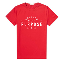 Created with A Purpose Cross T Shirts Cotton Women Christian Faith Tee Shirt Femme Tumblr Grunge Short Sleeve Top