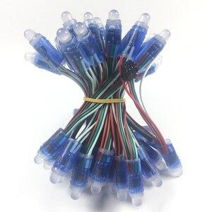 1000 шт. 12 мм WS2811 2811 IC полноцветный пиксельный светодиодный модуль света DC 5 В вход IP68 водонепроницаемый RGB цветной цифровой светодиодный пиксе...