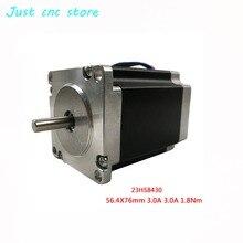 Nema 23 шаговый двигатель 2 фазы 4-Leads 270 Oz-in/180Ncm 76 мм ЧПУ 3d принтер 23HS8430 1.8deg