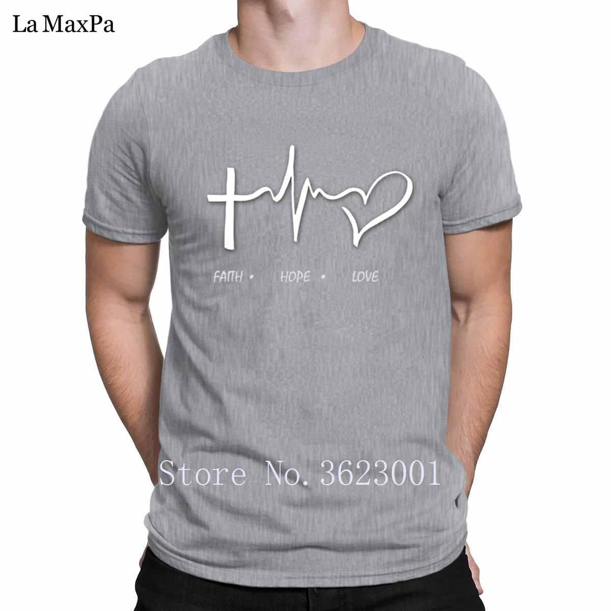 38ac87b53 ... Custom Awesome Tee Shirt For Men Faith Hope Love T Shirt Man Summer  Tshirt Unique Men's ...