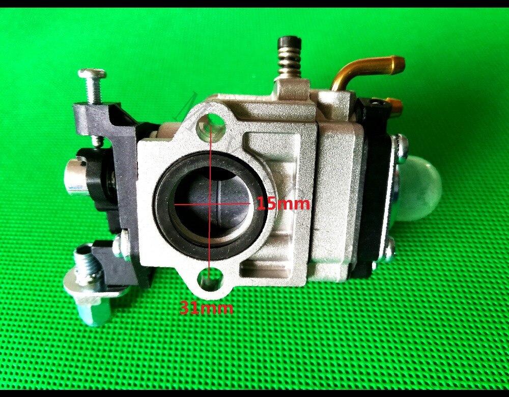 Débroussailleuse essence 15mm carburateur carbu pour CG430/520 tondeuse pièces de rechange 40-5/44-5, 43cc/47cc/49cc/52cc