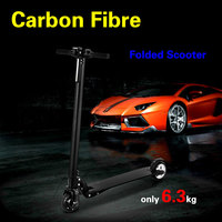 Foldable Electric scooter Carbon Fiber Skateboard Battery 8.8ah/10.4ah electrical bike with Kickstand for Children Adult