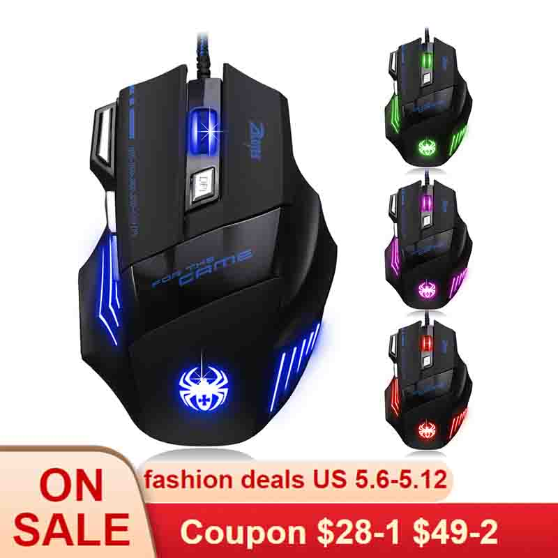 XXW Mouse Professional Game Competitive Colorful Glowing Mouse Computer 7 Button Internet Cafe Plus Major Mouse Optical Mouse