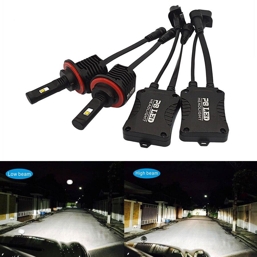 2PCS LED Headlight Bulbs P8 H4 LED 4000K Hi Lo H13 9004 9007 Car Lamp H4