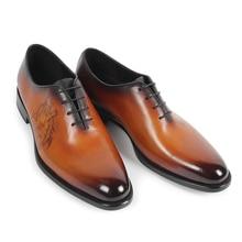 2017 ручной работы Винтаж мужские туфли-оксфорды пользовательские Мужская обувь на плоской подошве Горячая продажа одежды Свадебная вечеринка Пояса из натуральной кожи обувь Оригинальные Дизайн